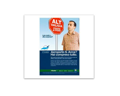 Aeroporto Sant'Anna pubblicità